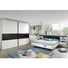 schlafzimmer set coleen bett schrank nako in weiß graphit