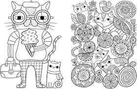 Posh Adult Coloring Book Cats For Comfort Creativity