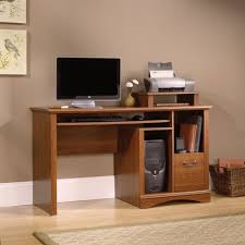 Sauder Harbor View Computer Desk Salt Oak by Furniture Sauder Computer Desks Black Corner Desk With Hutch