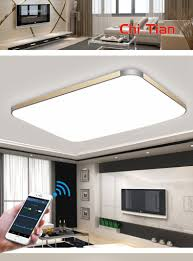 mobile phone bluetooth surface mounted modern led ceiling lights