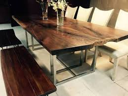 Modern Wood Dining Room Table Live Edge Tables