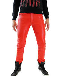 men leather pants trouser tight leather jeans bockle 1991 tube