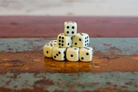 Download Stack Of Dice On Table Stock Image Success