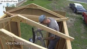complete backyard shed build in 3 minutes icreatables shed plans
