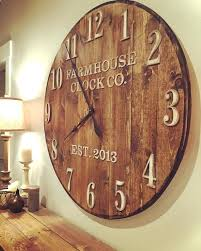 Farmhouse Clock Co Standard Numeral Wooden Wall Pendulum Clocks Uk
