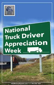 Happy National Truck Driver Appreciation Week, September 9-15, 2018 ... Celebrating Drivers During Truck Driver Appreciation Week Sept 9 National Eagle Cadian On Twitter Its Enterprises Celebrates Shell Rotella Nz Trucking Tmaf To Launch Campaign Imagine Youtube Ats Game American Service One Transportation