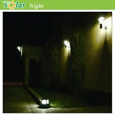 stainless steel wall l outdoor with solar panel house lights