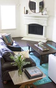 Grey Brown And Turquoise Living Room by Living Room Teal Blue And Brown Area Rugs Chocolate Brown And
