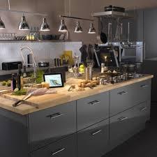 cuisine bois et photo cuisine grise et bois