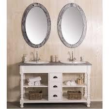 landhaus doppelwaschtisch weiß mit spiegel set 3 teilig