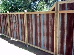 The Rustic Corrugated Tin Fence My Husband And I Built Made From Recycled