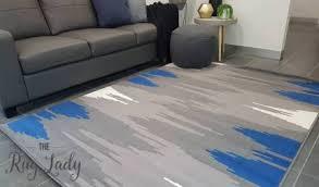 Modern classic grey blue carpet rug Rugs & Carpets