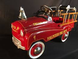 VINTAGE VOLUNTEER FIRE DEPT. TRUCK NO. 1 PEDAL CAR, BY GEARBOX PEDAL ... Antique Hook And Ladder Fire Truck Pedal Car 275 Antiques For Price Guide American Fire Truck Pedal Car Second Half20th Restoration C N Reproductions Inc Instep Riding Toy Hayneedle Childs Red Toy Pedal Car Based On An American Fire Truck Amazoncom Instep Toys Games 60sera Blue Moon Gearbox Vintage Firetruck Cars Pinterest Cars Withrows Body Shop Rare Large Structo Jeep Red Firetruck With Airbags Stuff