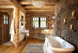 Mountain Style Freestanding Bathtub Photo In Other With A Console Sink