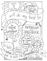 UK Brownie Promise Colouring Sheet Created By Emyb Emy Buxton