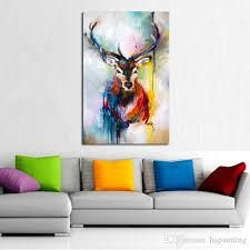 großhandel handgemalte tier wandbilder abstrakte schöne deer kunst ölgemälde auf leinwand für wohnkultur hängen wandmalereien hapainting 17 43