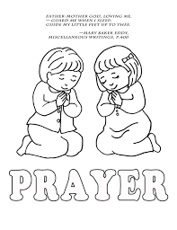 Perfect Children Praying Coloring Page