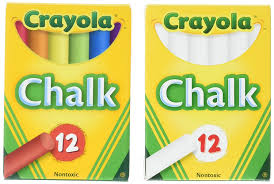 Amazon.com: Crayola Non-Toxic White Chalk And Colored Chalk: Office ...