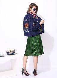 badge tiger sticker new corduroy jacket women new streetwear