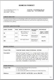 Image Result For C V Format Freshers In Word