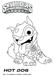 Coloring Pages Skylanders Giants Crusher Colouring Printable Hot Dog