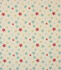 Funky Stars Fabric in Duck Egg Just Fabrics