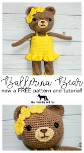 free crochet pattern for this beautiful ballerina bear this