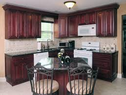 Vintage Metal Kitchen Cabinets by Beautiful Red Color Mahogany Wood Kitchen Cabinets Featuring Black