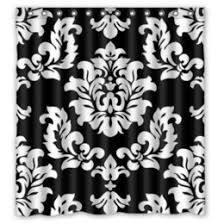 Black And White Flower Shower Curtain by White Damask Fabric Online White Damask Fabric For Sale