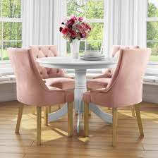 Small Round Dining Table In White With 4 Velvet Chairs In Pink - Rhode  Island & Kaylee Oxford Velvet Side Chair Pink Set Of 2 Us 353 17 Off1 Set Vintage Table Chairs For Dolls Fniture Ding Sets Toys Girl Kid Dollin Accsories From Glass Pressed Argos Green Dressing Raymour Exciting Navy Blue Pating Dark Stock Photo Edit Now Settee Near Black At In Flat Zuo Modern Merritt 1080 Living Room Ideas Designs Trends Pictures And Inspiration Shabby Chic White Extendable Ding Table With 6 Pink Floral Chairs In Middleton West Yorkshire Gumtree Painted Metro Room 4pcs Stretch Covers Seat Protector