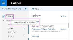 Use favorite public folders in Outlook on the web Exchange 2013 Help