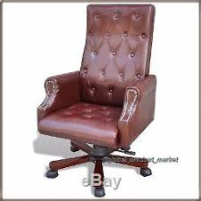 Sparco Office Chair Uk by Antique Style Desk Chair Manager Director Pu Leather Office