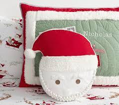 Pottery Barn Decorative Pillows by Santa Decorative Pillow Pottery Barn Kids