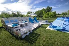 Wooden Pallet Pool Deck