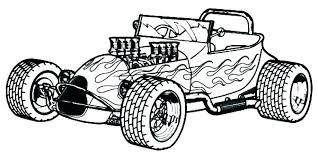 Hot Wheels Coloring Pages Classic Cars Rod