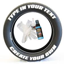 Amazon.com: Tire Stickers - Create Your Own Custom Tire Lettering ...