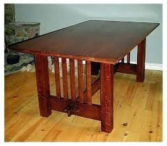 Mission Style Dining Table Prairie Expanding In Diy Craftsman