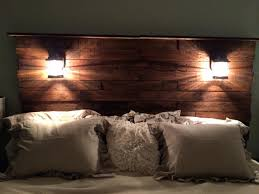 Trendy Diy Pallet Headboard Add Stain Cool Lights Bam 125 Bedroom Ideas