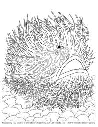 Free Adult Coloring Book Page From Creatures Of The Deep Courtesy Cleverpedia And
