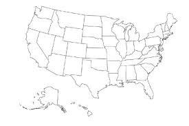 Logo United States Map Us Transparent Background California Plain Outline No