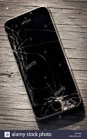 Apple Iphone 5s with a Broken Screen Stock Royalty Free