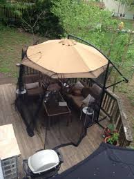 Offset Patio Umbrella With Mosquito Net by Mosquito Netting For Patio Umbrella Under Ground