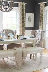 Summer Tour Dining Room Linen Tufted Chairs Palm Leaf DIY Art Ikat