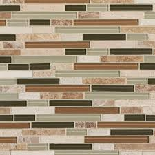 Capco Tile And Stone by Bliss Bamboo Linear Blend Glass And Stone Mosaic 12in X 12in