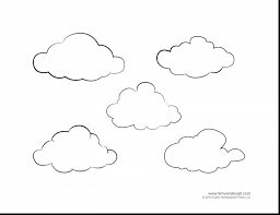 Outstanding Printable Cloud Template With Weather Coloring Pages And Pdf