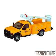 100 Ford Bucket Truck HO Scale F450 Service Body Edison Electric