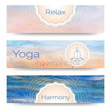 Banner Design For Yoga Studio Royalty Free Stock Vectors