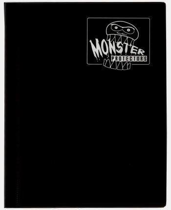 Monster 4 Pocket Binder - Matte Black