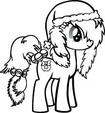 Christmas Coloring Sheets To Print Also Cute Colouring Pages Little Pony