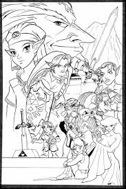 Superb Adam Carabet The Legend Of Zelda Ocarina Time Bampw With Coloring Pages